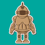 Дизайн Vecyor милого рыцаря деревянный думмичный иллюстрация вектора