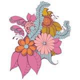 Дизайн Zentangle Пейсли Стоковые Изображения