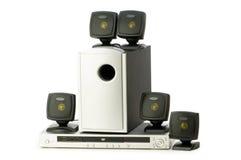 дикторы DVD-плеер стоковые фотографии rf
