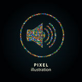 Диктор - иллюстрация пиксела Стоковое Изображение