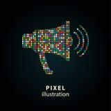Диктор - иллюстрация пиксела Стоковое Изображение RF
