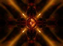 Диктор музыки калейдоскопа золота Стоковая Фотография RF