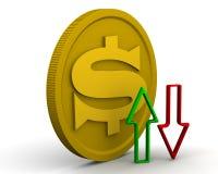 Динамика доллара США иллюстрация вектора