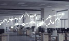 Динамика продаж и концепция роста Мультимедиа Стоковая Фотография RF