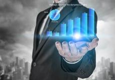 Динамика продаж рынка Мультимедиа Стоковое Изображение RF
