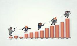Динамика роста в деле иллюстрация штока