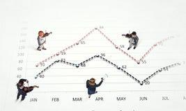 Динамика роста в деле Стоковое Изображение