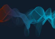 Динамическая абстрактная волна смеси цвета на темной предпосылке Стоковая Фотография