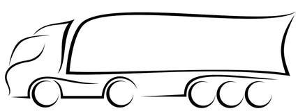 Динамическая иллюстрация вектора европейской тележки с трейлером 3-цапф как логотип иллюстрация вектора