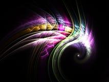 Динамическая и красочная спираль, цифровое искусство фрактали Стоковые Фото