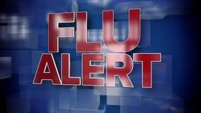 Динамическая плита предпосылки титульного листа сигнала тревоги гриппа иллюстрация вектора