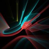 Динамическая фракталь цвета на черноте Стоковое Изображение
