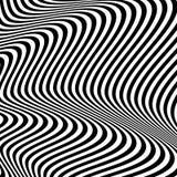 Динамические линии абстрактная картина Иллюстрация вектора с большим c Стоковое Изображение RF