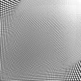 Динамические линии решетка Monochrome геометрическая картина, абстрактное textu Стоковая Фотография