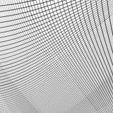 Динамические линии решетка Monochrome геометрическая картина, абстрактное textu Стоковые Фото
