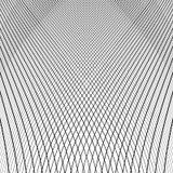 Динамические линии решетка Monochrome геометрическая картина, абстрактное textu Стоковая Фотография RF