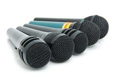 динамические микрофоны Стоковое Изображение RF
