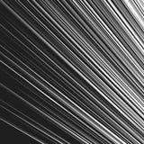 Динамические, радиальные линии картина Прямые наклоненные линии чернота и Стоковая Фотография
