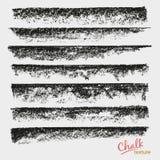 Динамические ходы вектора Текстура Grunge мела Широкая художественная щетка бесплатная иллюстрация