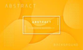 Динамический текстурированный дизайн предпосылки в стиле 3D с оранжевым цветом Смогите быть использовано для плакатов, плакатов,  иллюстрация штока