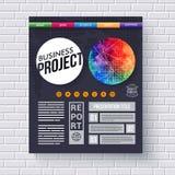 Динамический шаблон дизайна проекта дела Стоковые Изображения RF