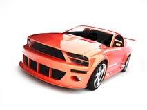 динамически красное sportscar бесплатная иллюстрация