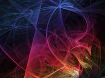 Динамическое абстрактной вселенной состава элегантности луча компьютера фрактали сюрреалистическое творческое иллюстрация вектора