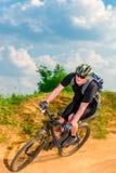 Динамическое изображение велосипедиста в движении Стоковая Фотография RF