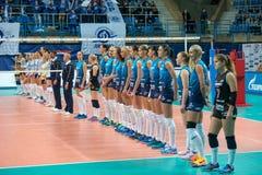 Динамомашина команды перед игрой Стоковое Изображение RF