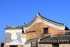 Династия Qing в периоде династии Ming старинных зданий Китая деревни стоковые изображения rf
