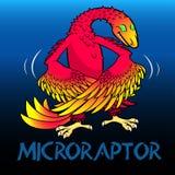 Динозавры характера Microraptor милые Стоковая Фотография RF
