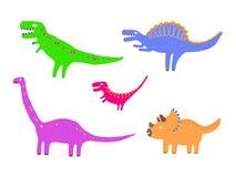 Динозавры цвета Стоковое Изображение