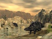 Динозавры Chrichtonsaurus - 3D представляют стоковые фотографии rf