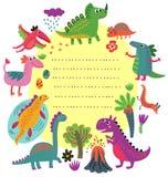 Динозавры vector комплект Стоковые Изображения RF