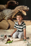 динозавр мальчика Стоковые Изображения RF