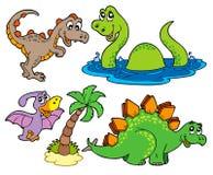 динозавр собрания различный иллюстрация вектора