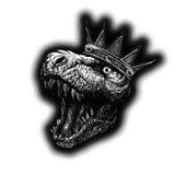 Динозавр тиранозавра вычерченная рука Вектор EPS8 Стоковые Изображения RF