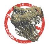 Динозавр тиранозавра. Нарисованная рука. Вектор eps8 Стоковая Фотография
