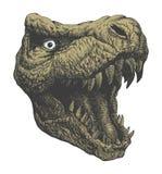 Динозавр тиранозавра. Нарисованная рука. Вектор eps8 Стоковая Фотография RF