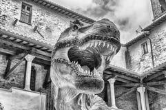 Динозавр, aka t-rex Rex тиранозавра, на выставке в Gubbio, Стоковое Изображение RF