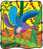 динозавр archeopterio Стоковые Изображения