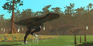 Динозавр Bistahieversor бесплатная иллюстрация