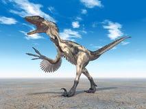 Динозавр Deinonychus иллюстрация штока