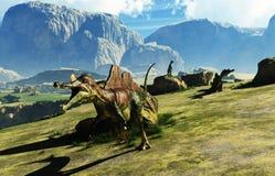 Динозавр Ichthyovenator стоковое изображение rf