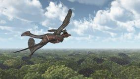Динозавр Microraptor Стоковые Фотографии RF