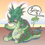 Динозавр Styracosaurus прикладывая состав Стоковые Фотографии RF