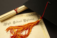Диплом средней школы Стоковые Фотографии RF