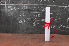 диплом chalkboard Стоковая Фотография RF