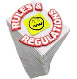 Директивы f законов кучи стога обработки документов регулировок правил бесконечные Стоковое фото RF