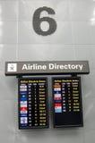 директория авиакомпании стоковое фото